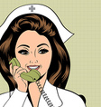 Beautiful friendly and confident nurse vector image