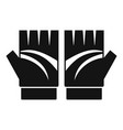 bike gloves icon simple style vector image vector image