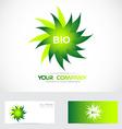 Bio logo vector image vector image