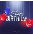 Birthday card in bright colors vector image