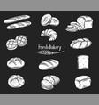 bread glyph icons set vector image vector image