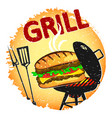 burger grilled banner vector image