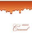 caramel sauce seamless pattern 3d caramel drop vector image
