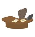 Cartoon head table vector image