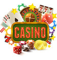 Casino Frame vector image vector image
