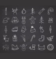 christmas and new year icons hand drawn doodles vector image vector image