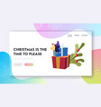 christmas and new year party celebration website vector image vector image
