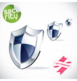 Clean Glossy Shield vector image