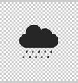 cloud with rain icon on transparent background vector image vector image