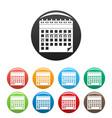 contraceptive calendar icons set color vector image