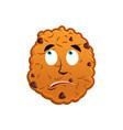 cookies surprised emoji biscuit emotion vector image vector image