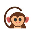 cute expressive monkey cartoon icon imag vector image