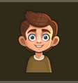 cute young man avatar character cartoon style vector image vector image