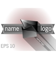 Dark 3d logo object vector image vector image