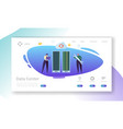 data center server repair landing page vector image