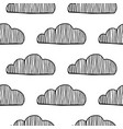 decorative clouds black and white vector image