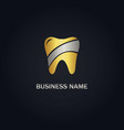 dental gold logo vector image vector image