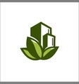 eco nature building logo template vector image vector image