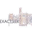 exactseek explained part text background word vector image