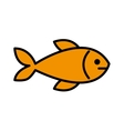 fish meat isolated icon design vector image vector image