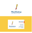 flat paint brush logo and visiting card template vector image