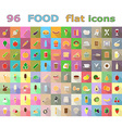 food flat icons 03 vector image vector image