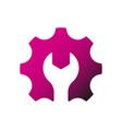 gear and wrench icon tools design elements vector image vector image