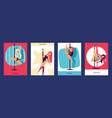 girls dancing cards easily performing complex vector image