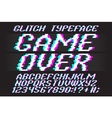 glitched typeface 01 vector image vector image
