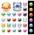 Glossy web buttons set vector image vector image