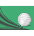 green background with a golf ball vector image vector image