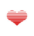 heart icon graphic design template vector image