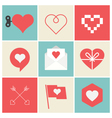 heart set icon vector image