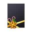 holiday christmas gift card vector image vector image