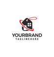 home sale logo design concept template vector image