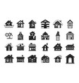 house icon set simple style vector image