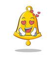in love school bell character cartoon