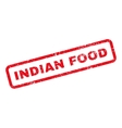 Indian Food Text Rubber Stamp vector image vector image