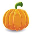 Isolated cartoon pumpkin on white vector image