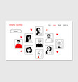 landing page template online dating vector image