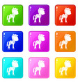 little pony icons 9 set
