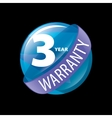 logo 3 years warranty vector image vector image