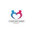 love adoption and community care logo template vector image