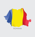 map of romania vector image vector image