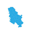 map of serbia nokosovo high detailed map - serbia vector image vector image
