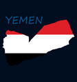 map of yemen with the image of the national flag vector image vector image