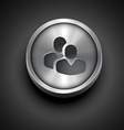 metallic teamwork icon vector image