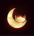 moon and mosque vector image