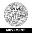 MOVEMENT vector image vector image