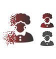 moving pixel halftone brunette woman icon vector image vector image